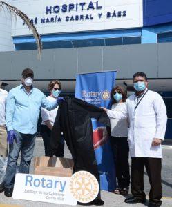 Hospital Cabral y Báez  recibe Donación de clubes rotarios