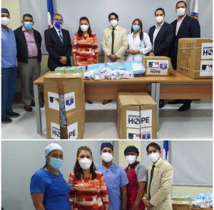 La Organización Project HOPE entrega insumos de protección contra el Covid- 19 al Cabral y Báez