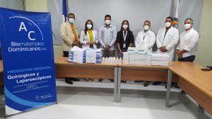 AC Biomateriales  Dominicanos SRL entrega material gastable la Hospital José María  Cabral y Báez