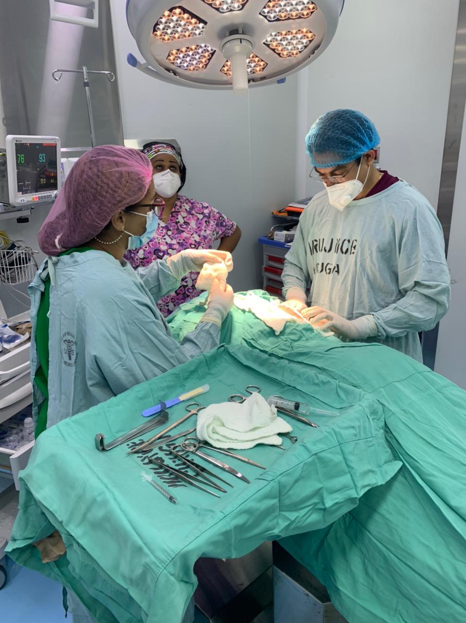 Interviene paciente con lesión tumoral